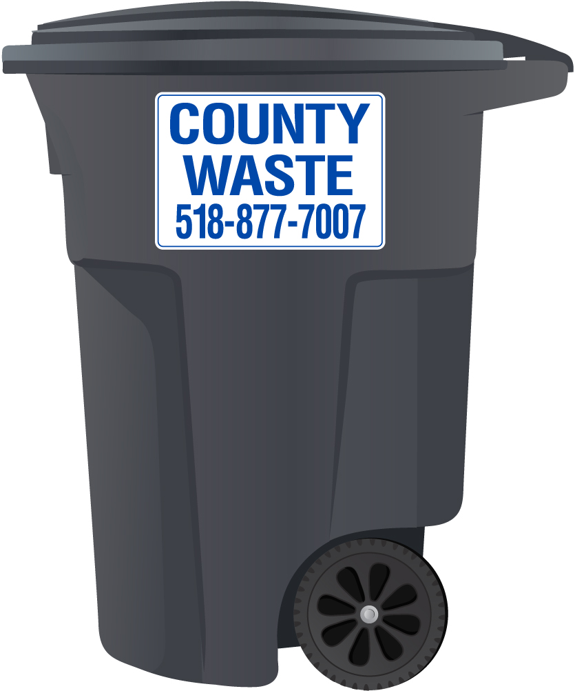 County Waste 95 Gallon Trash Cart
